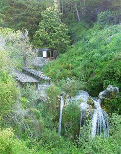 Big Sur, CA. Esalen Institute. Round meditation building. Transcendent.