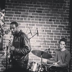 From Sundays open #jazz jam...reggie and dom burning it up on #saxophone and #drums ...#DTSJ #SoFA