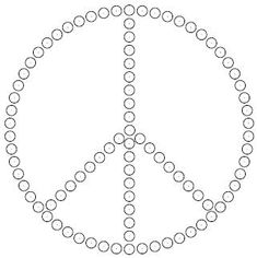 Peace Sign Rhinestone Template