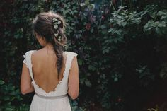 Fishtail braid with flowers | Bianco Photography
