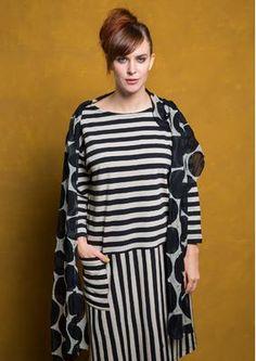 Gestreiftes Kleid aus Öko-Baumwolle 75706-99.tif