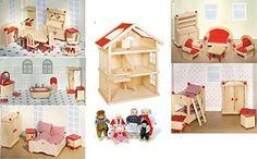 Puppenstube, 3 Etagen-Puppenhaus aus Holz, komplett mit Möbeln für 5 Zimmer Goki http://www.amazon.de/dp/B001KRZNC2/ref=cm_sw_r_pi_dp_DkHxwb1VQ2QNY