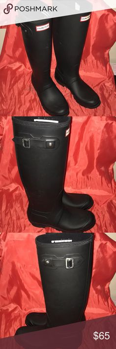 Hunter Boots Unisex Black Hunter Boots, like new condition!  Originally $150 Hunter Boots Shoes Winter & Rain Boots