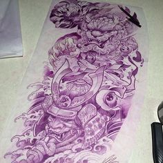 All done this sleeve drawing... #rtcinc #prismacolorpencils #lovemyjob #sleeve #irezumicollective #shishi #pheony