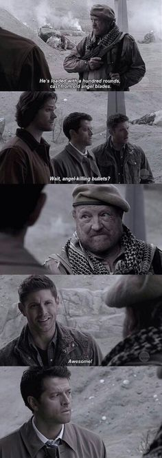 Cas' face is priceless