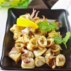 Mediterranean grilled calamari