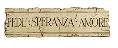 Faith Hope Love  Italian wall art plaque, item 537