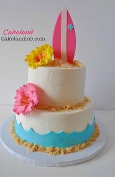 5.Surf board cake