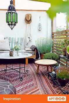 Oh goodness--love the idea of a huge rug like this for an outdoor space. #APTCB2 #inspiration