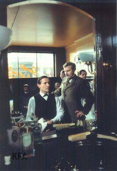 The Adventures of Sherlock Holmes, Granada TV, 1984-85. Starring Jeremy Brett as Sherlock Holmes, David Burke as Dr. Watson.