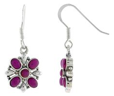 Sterling Silver Pearl & Colored Earrings - Wholesale Afford Price: Contact Us