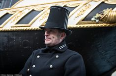 Among the characters portrayed at the museum are a police officer, who is pictured wearing the uniform made famous by the period