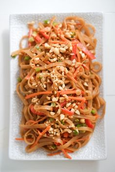 Peanut Sesame Noodles and Veggies Recipe