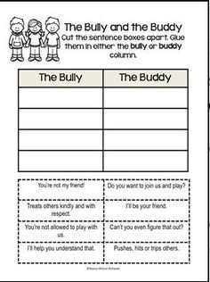 Anti-Bullying Activities With Posters Distance Learning Bullying Worksheets, Anti Bullying Lessons, Anti Bullying Activities, Activities For Kids, Social Work, Social Skills, Effects Of Bullying, Bullying Prevention, Verbal Abuse