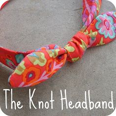 The Knot Headband  Sewing Required -lightweight fabric (about of a yard) of  wide elastic medium size safety pins -measuring tape -other general sewing  ... f8083d2a1c6