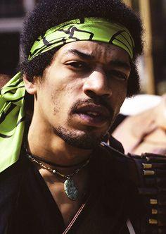 Jimi Hendrix in 1969 by Ed Thrasher.