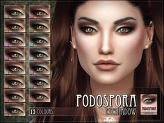 Podospora Eyeshadow for The Sims 4  Found in TSR Category 'Sims 4 Female Eyeshadow'