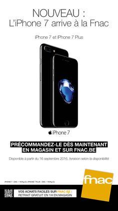 L'iPhone7 arrive à la Fnac. Pré-réservez le dès aujourd'hui! En magasin et sur fnac.be #Like #iPhone #iPhonePlus #Apple #Nouveau #Noir #Argent #Or #Rose