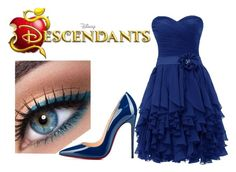 """""""Lily Radcliffe - Descendants OC - Date Night"""" by im-a-wizard on Polyvore featuring Christian Louboutin, women's clothing, women's fashion, women, female, woman, misses and juniors"""