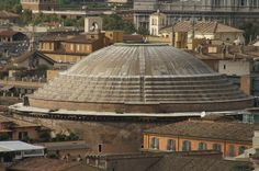 The dome of the Pantheon as seen from the Capitoline Museums