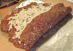 Pizzainspireret farsrulle Meatloaf, Banana Bread, Steak, Pork, November, Desserts, Recipes, Mat, Foods
