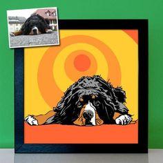 Personalisiertes Geschenk Portrait Hund Hundebilder - Dein Haustier als 60s 70s Pop Art Gemälde malen lassen, Zeichnung Poster Leinwand Art Journal Pages, Art Journaling, Pop Art Portraits, Retro, Art Inspo, Diy, Art, Personalized Gifts, Canvas Frame