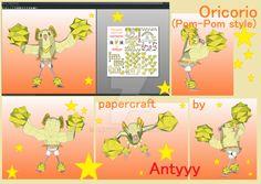 Oricorio (Pom-Pom Style) papercraft by Antyyy.deviantart.com on @DeviantArt