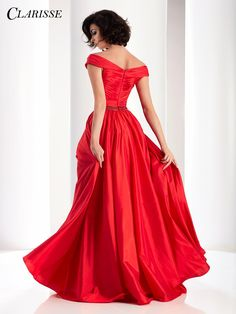 a02b6f7ba67 CLARISSE Prom 2017 Taffeta Dress Style Glamorous taffeta gown by Clarisse  features off the shoulder strap