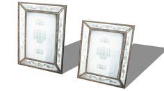 ENS. 2 CADRES PHOTO ROSE-MARIE, Maisons du monde. Réf: 138506 prix45,00 € - 3D Warehouse
