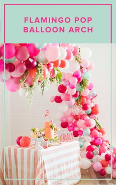 This balloon arch makes every occasion magical! Plus, making it with our kit makes making this showstopper a cinch!  balloon arch, diy party decor, event decor, bridal shower decor, balloon decor, diy backdrop, colorful party decor Balloon Garland, Balloon Decorations, Wedding Decorations, Wedding Ideas, Balloon Display, Wedding Details, Balloon Arch Diy, Balloon Ideas, Balloon Party