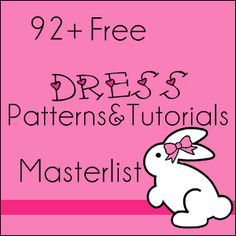 92+ Free Patterns & Tutorials for little girls' dresses {Size newborn - 7years} sew* doing this haha