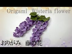 【Origami Wisteria flower】藤の花、ふじのはな、春の花折り方【おりがみ】 - YouTube Origami Tree, Origami Leaves, Origami Easy, Diy Flowers, Pretty Flowers, Paper Flowers, Flower Diy, Diy And Crafts, Paper Crafts