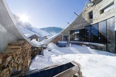 Winter - Villa Vals - Architizer