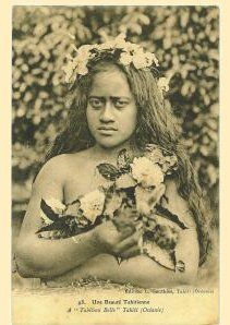 Tahitian beauty 1912.