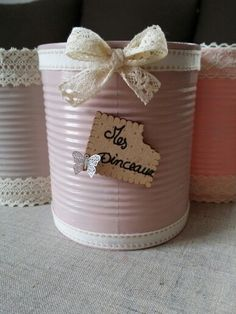 Boite de conserve customisée Reuse, Upcycle, Art Floral, Repurposed, Tin, Canning, Inspiration, Home Decor, Recycling