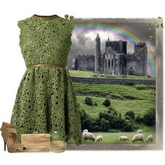 Ireland by maggiesuedesigns on Polyvore featuring Valentino, Tory Burch, Edie Parker and Steve Madden
