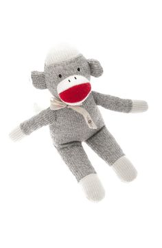 This adorable Beba Bean knit sock monkey rattle toy is the perfect companion to keep your baby company. This soft and cuddly toy comes with its own personal story on the tag around its neck. Whether you're looking for baby decor or your baby's first toy, this guy will be perfect in your home.