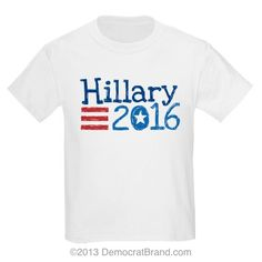 Kids Hillary Clinton T-shirt from Democrat Brand #democratbrand