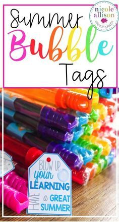 Grab up these free summer bubble tags when you sign up for my newsletter!