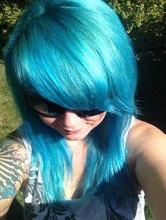 Splat Aqua Rush Aqua Hair, Turquoise Hair, Splat Hair Dye, Dyed Hair, Scene Girl Fashion, Cool Hair Color, Hair Colors, Edgy Hair, Scene Girls