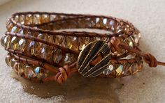 Hey, I found this really awesome Etsy listing at https://www.etsy.com/listing/165811253/leather-wrap-and-bead-bracelet-czech