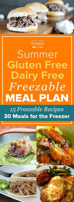 From chicken taco bowls to zucchini pancakes, these gluten free dairy free freezer meals make it easy to spend more of your summer outside the kitchen.