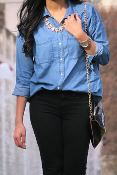 How to style a chambray shirt - outfit styling