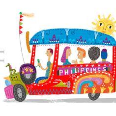 Philippine Jeepney Art Print by Robert Alejandro Filipino Art, Filipino Culture, Philippines Culture, Hetalia Philippines, Philippines Beaches, Philippines Food, Jeepney, Philippine Art, Tropical Beaches