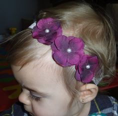 Baby Girl Flower Headband-Newborn Headbands-Toddler-Photo prop-Easter Headbands. $8.95, via Etsy.