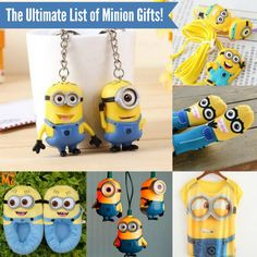 If you love Despicable Me and the minions, or know someone who does, this is the best list of Minion gifts ever!