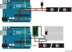Arduino UNO & RGB LED strip via external power