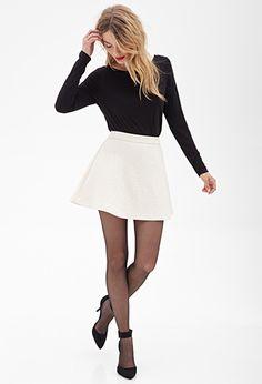 Matelassé Skater Skirt | FOREVER 21 - 2000122732 $18