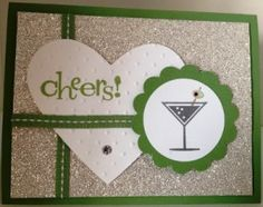 Handmade card using the Happy Hour stamp set from Stampin' Up!