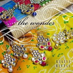 The wonder of each day! Get these earrings at http://www.raginimittal.com